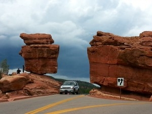 "The ""Balanced Rock"" and ""Steamboat"" formation"