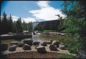 Athabasca University campus in Alberta.