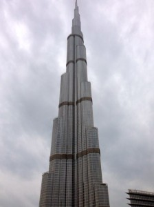 The Burj Khalifa: The tallest building in the world.