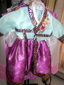 Matching Hanbok for baby.