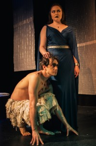 Lauren Ash-Morgan (Oberon) and Paul Silvestri (Puck). Photo courtesy of Robert Michael Evans.