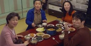 Dinner with the in-laws, as portrayed in a Korean soap.