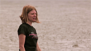 Taylor in the mudflats in one of the most intense scenes of the film.