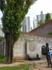 Outside the execution building where the Wailing Poplar stands. This tree was planted in 1923 and has deep emotional ties to the Korean activists. Those about to be hanged were said to have run to the tree and cried out their frustrations at not achieving independence before entering the building.