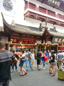 The busy shopping area in Old Shanghai.
