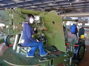 Yours truly on an M-1939 85mm anti-aircraft gun. This machine was made in the USSR in 1939 and was used by the North Koreans during the Korean war.