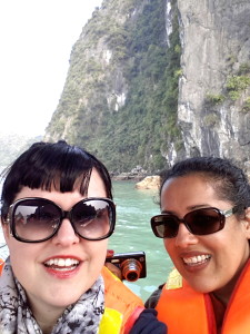 On our way to the caves inside Hang Sung Sot (Cave of Surprise).