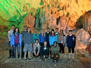 Group shot of our shipmates inside the Cave.