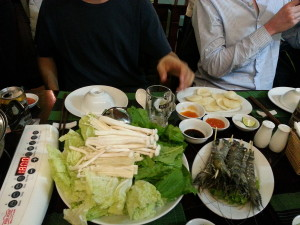 The contents of Vietnamese hotpot part one.