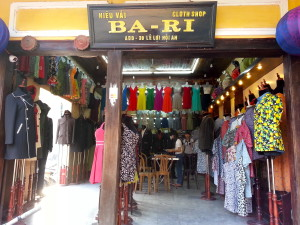 Seamstress shop Ba-Ri, where the three of us purchased made-to-order clothes.