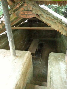 One of the dining bunkers where soldiers ate.