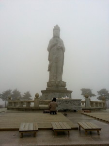 Another large Buddha at one of many peaks of Seoraksan.