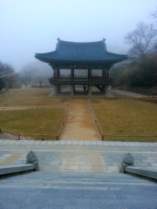 A look at the courtyard from the steps of Botajeon.