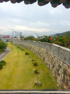 At look at the eastern wall. Ancient history jutting out of a modern city.