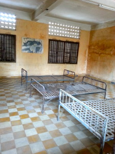 Former classrooms used for torture and interrogation.