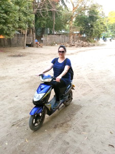 My first moped rental. A little scary but I did it!