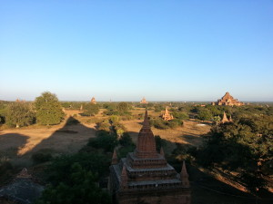 Sunset from a temple-top.