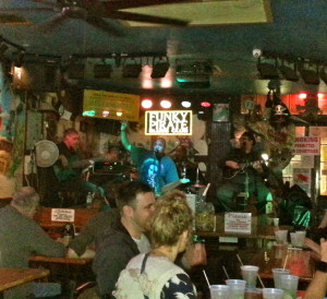 Live blues at the Funky Pirate.