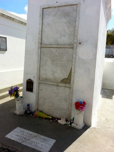 The tomb of Marie Laveau.